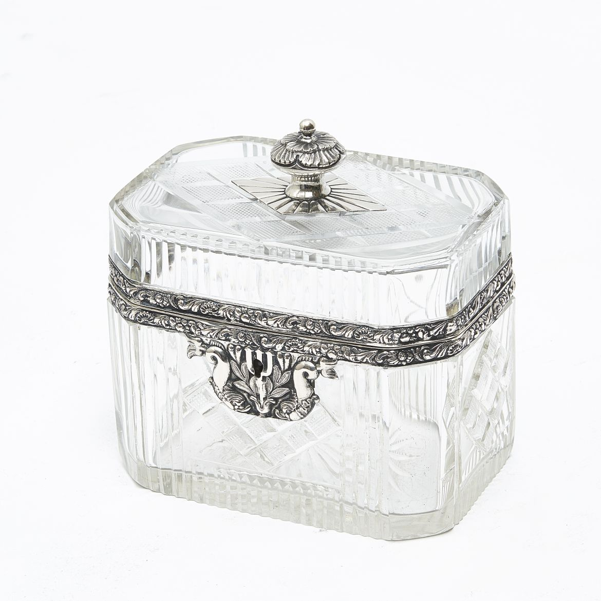 Continental Cut Glass and Silver Box