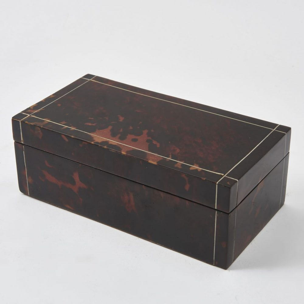 English Tortoiseshell Cigarette Box