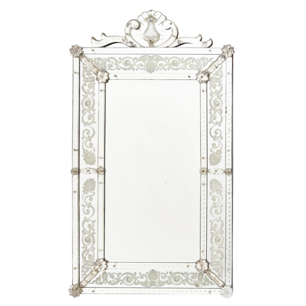 French Venetian Style Crested Mirror