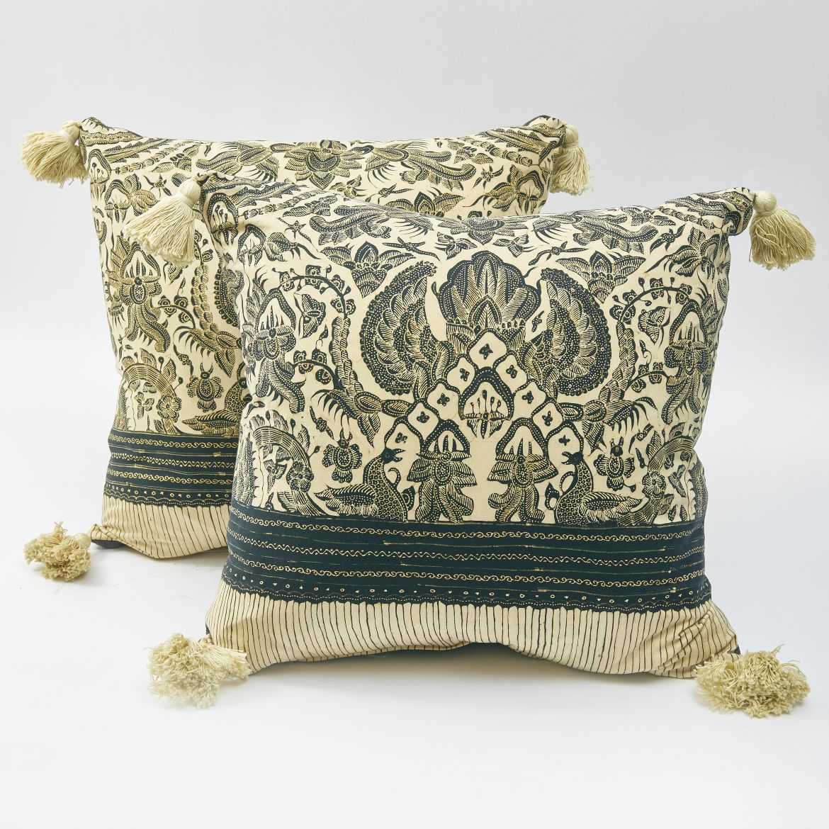 Indonesian Java Block Print Cushions