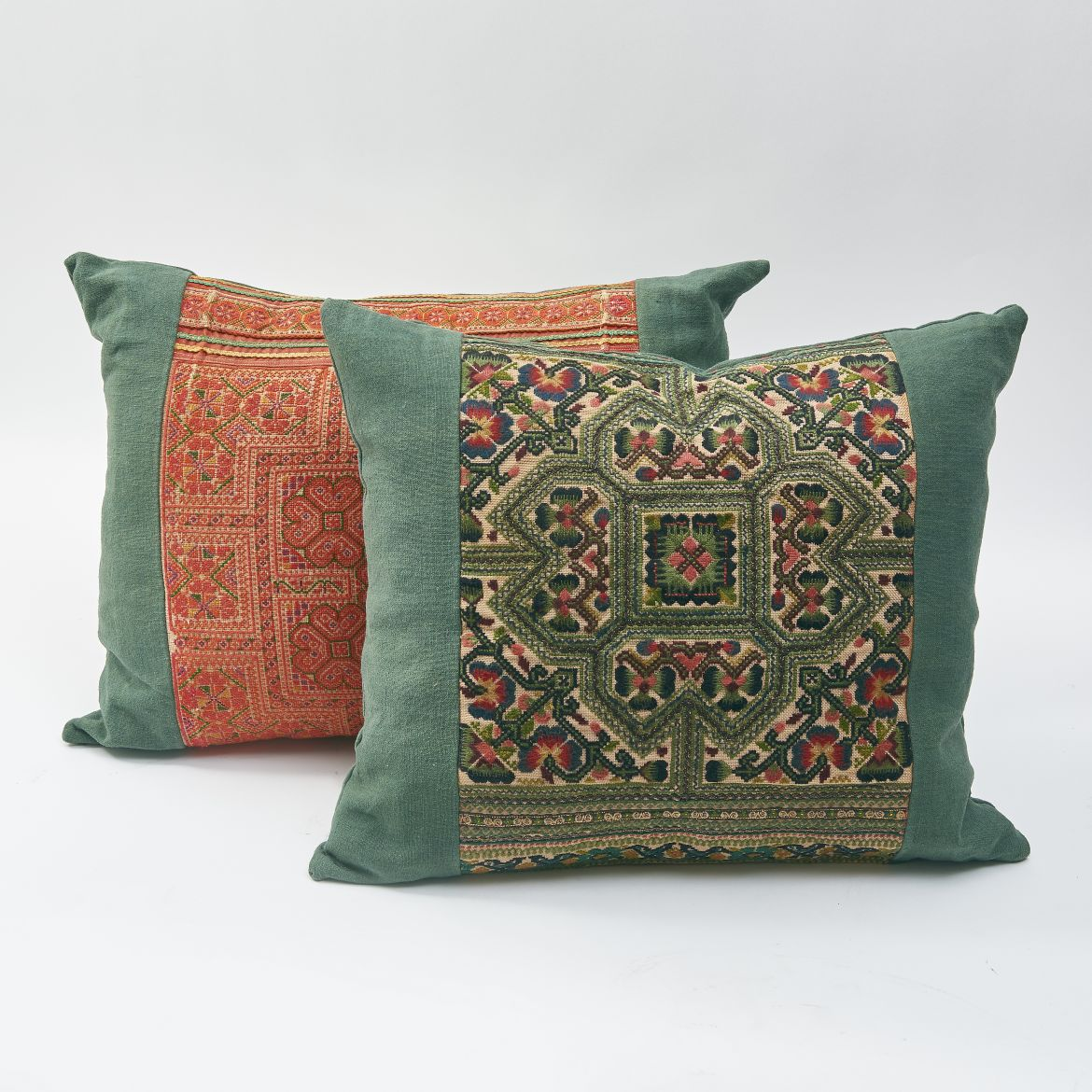 Embroidered Fabric Cushions