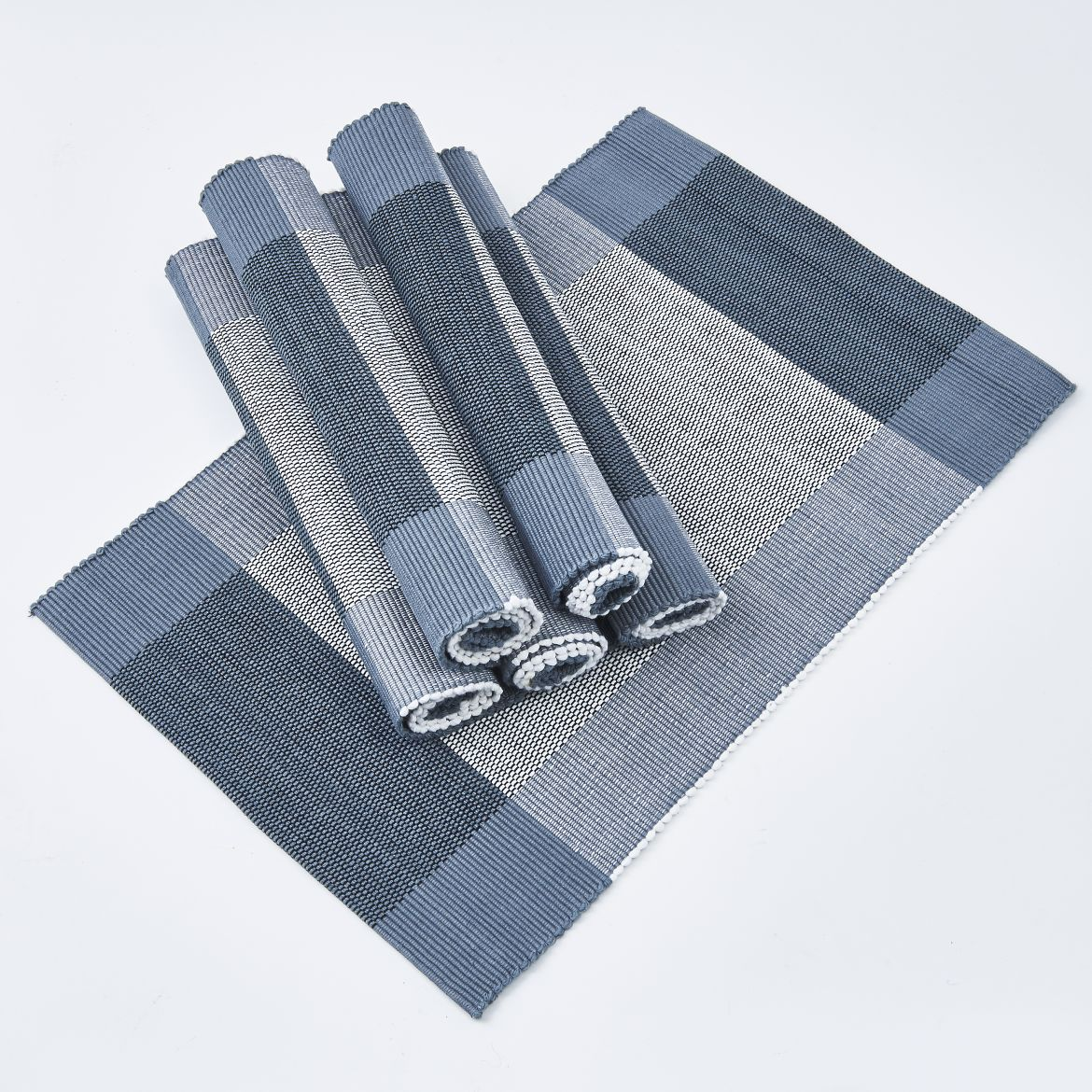 Blue And Grey Placemats