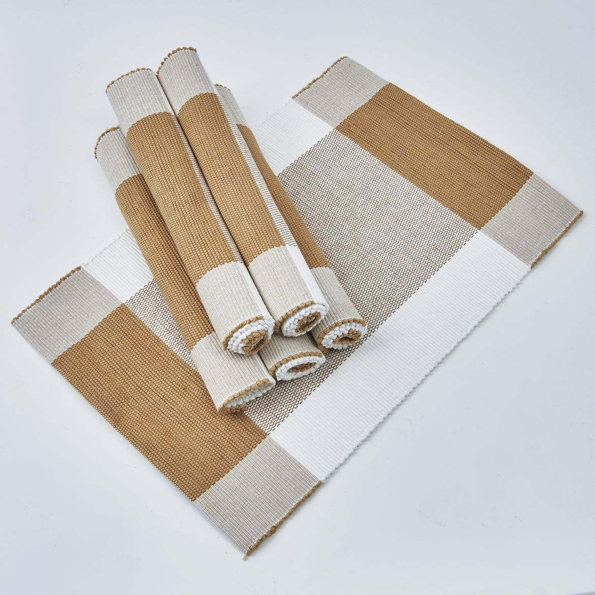 Caramel And White Placemats