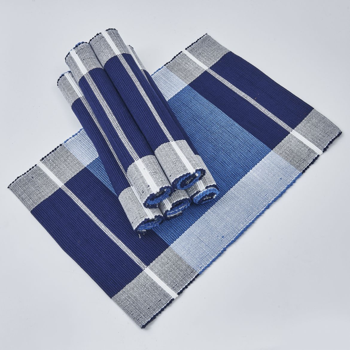 Royal Blue And White Placemats