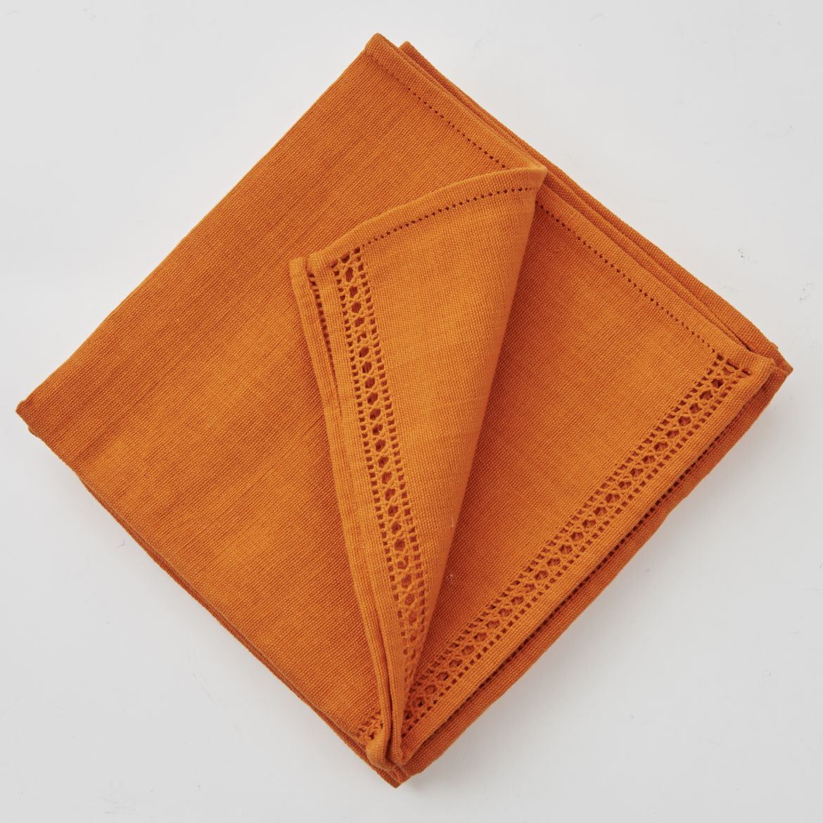 Set Of Orange Napkins