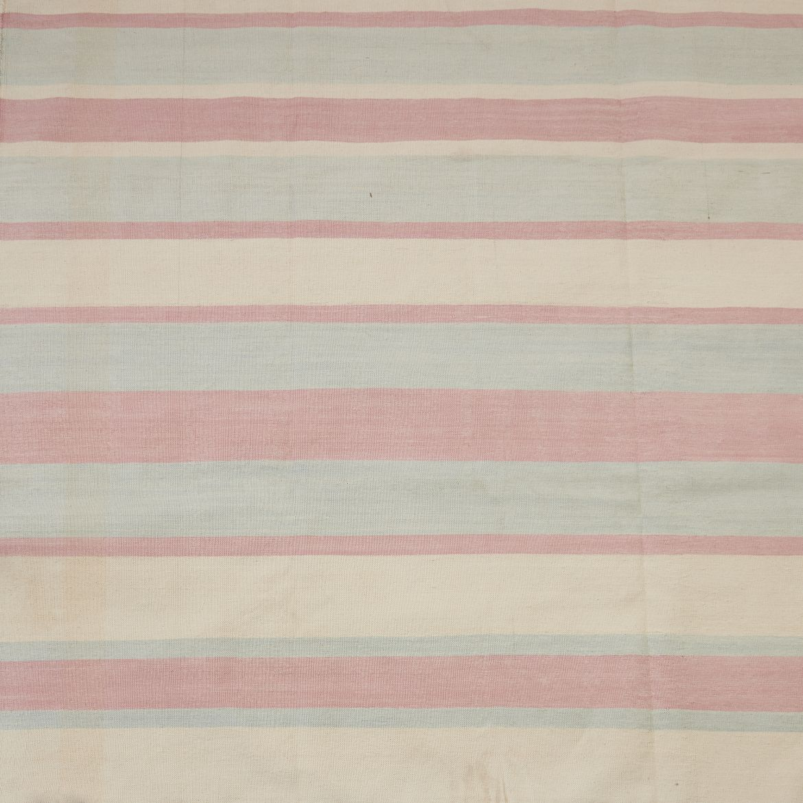 Contemporary Pale Pink Striped Dhurrie