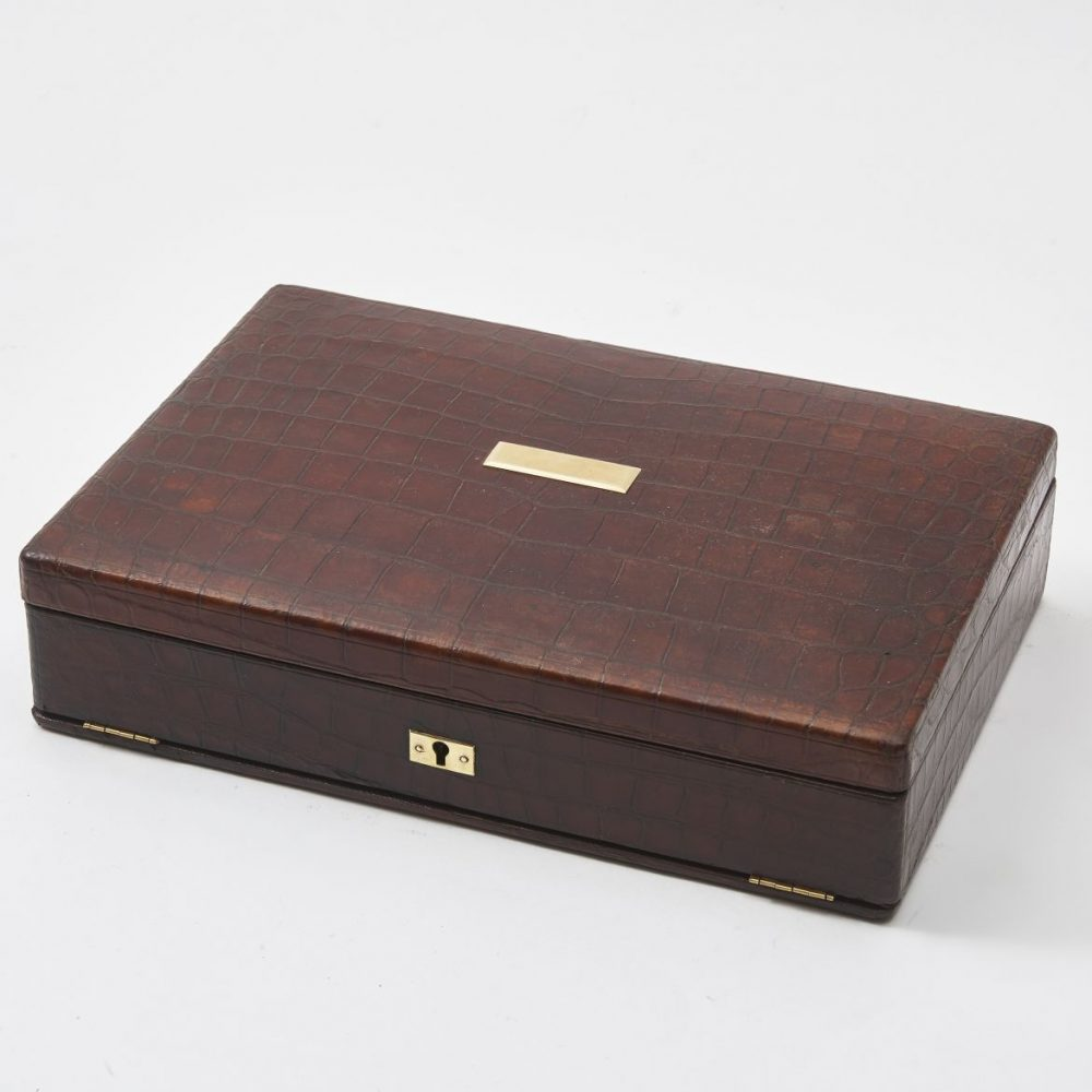JC Vickery Crocodile Jewellery Box