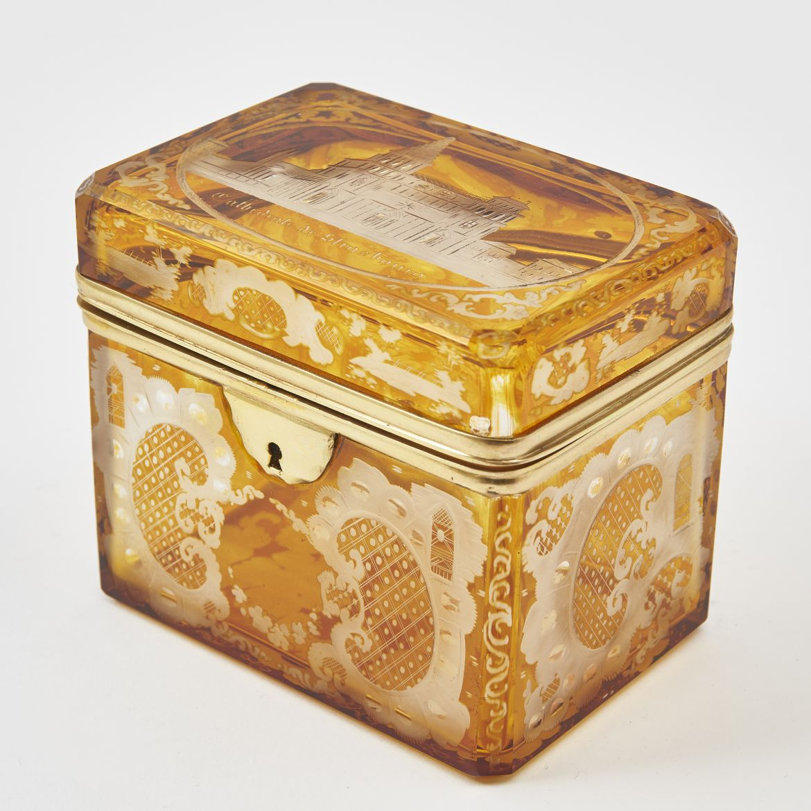 Bohemian Box With Strasbourg Cathedral Decoration