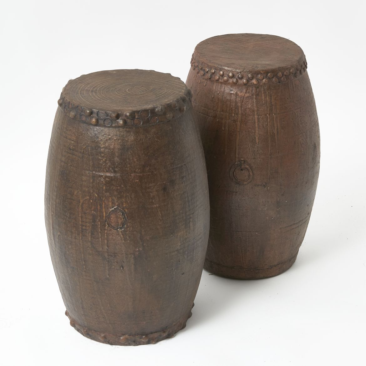 Chinese Dark Glazed Stools
