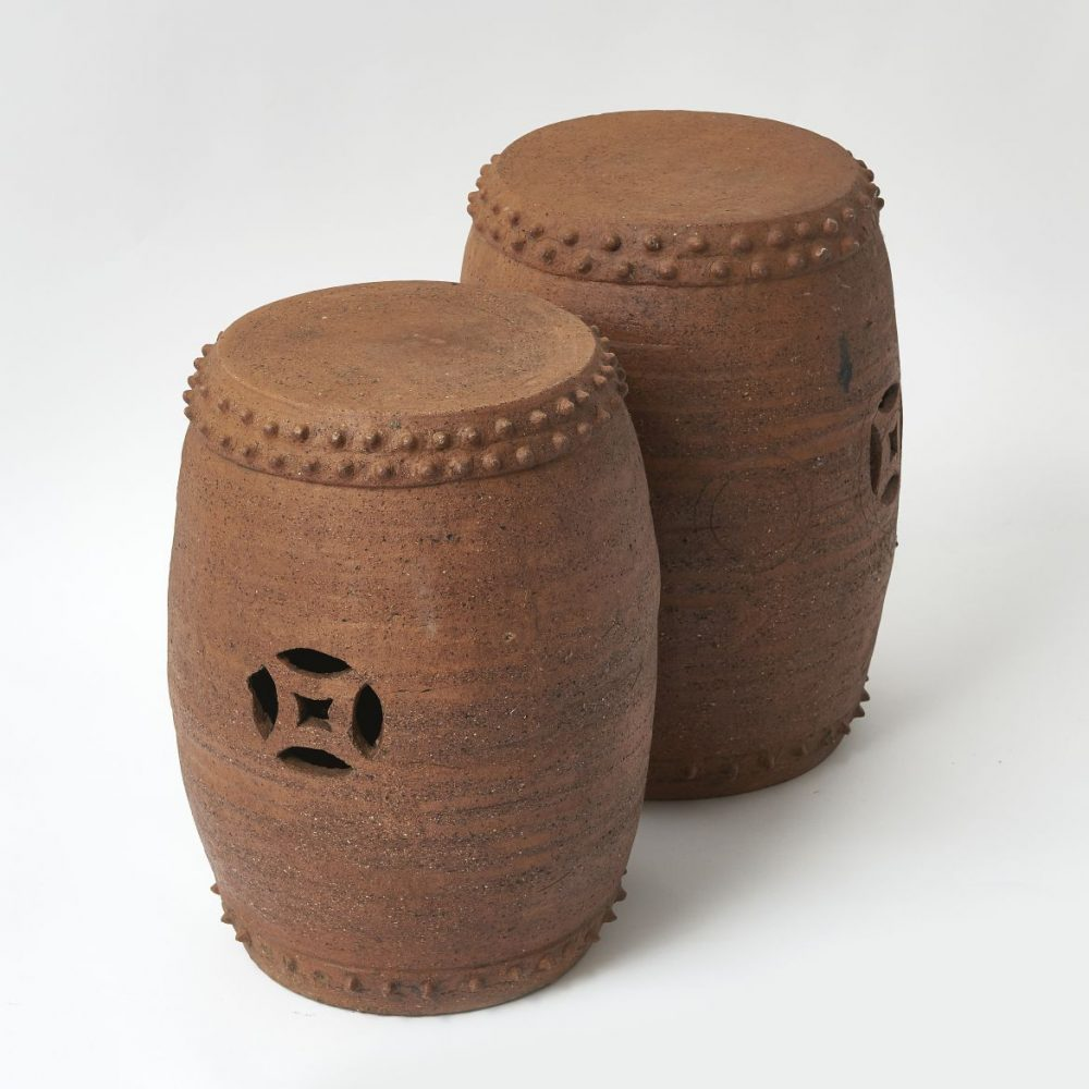 Chinese Fire Clay Garden Stools