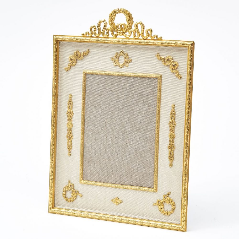 French Ormolu Classical Motif Photo Frame