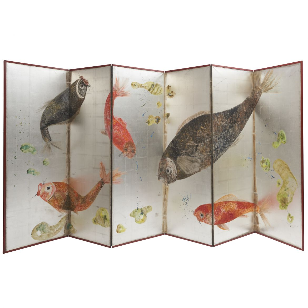 Japanese Screen With Carp
