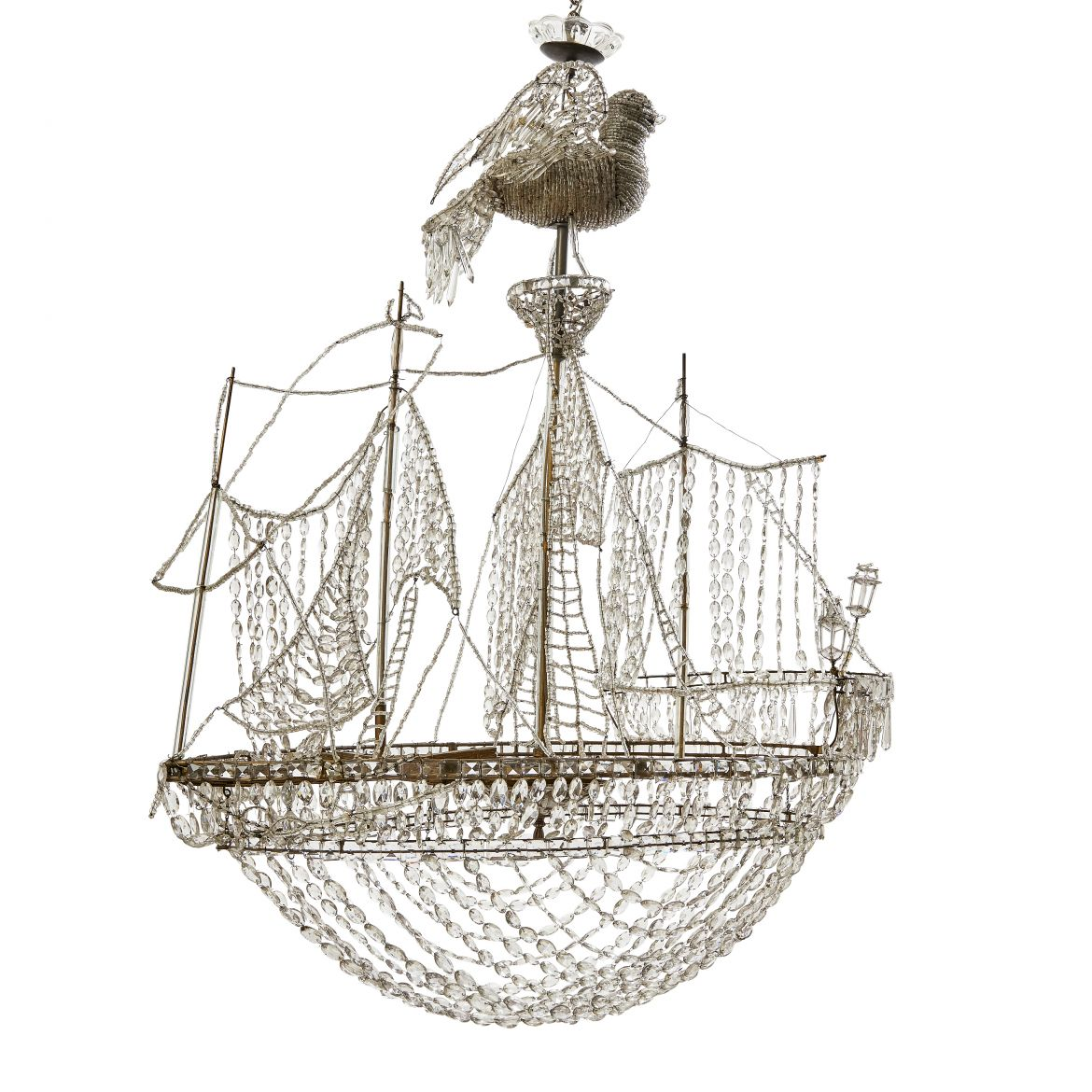 Glass Beaded Ship Chandelier
