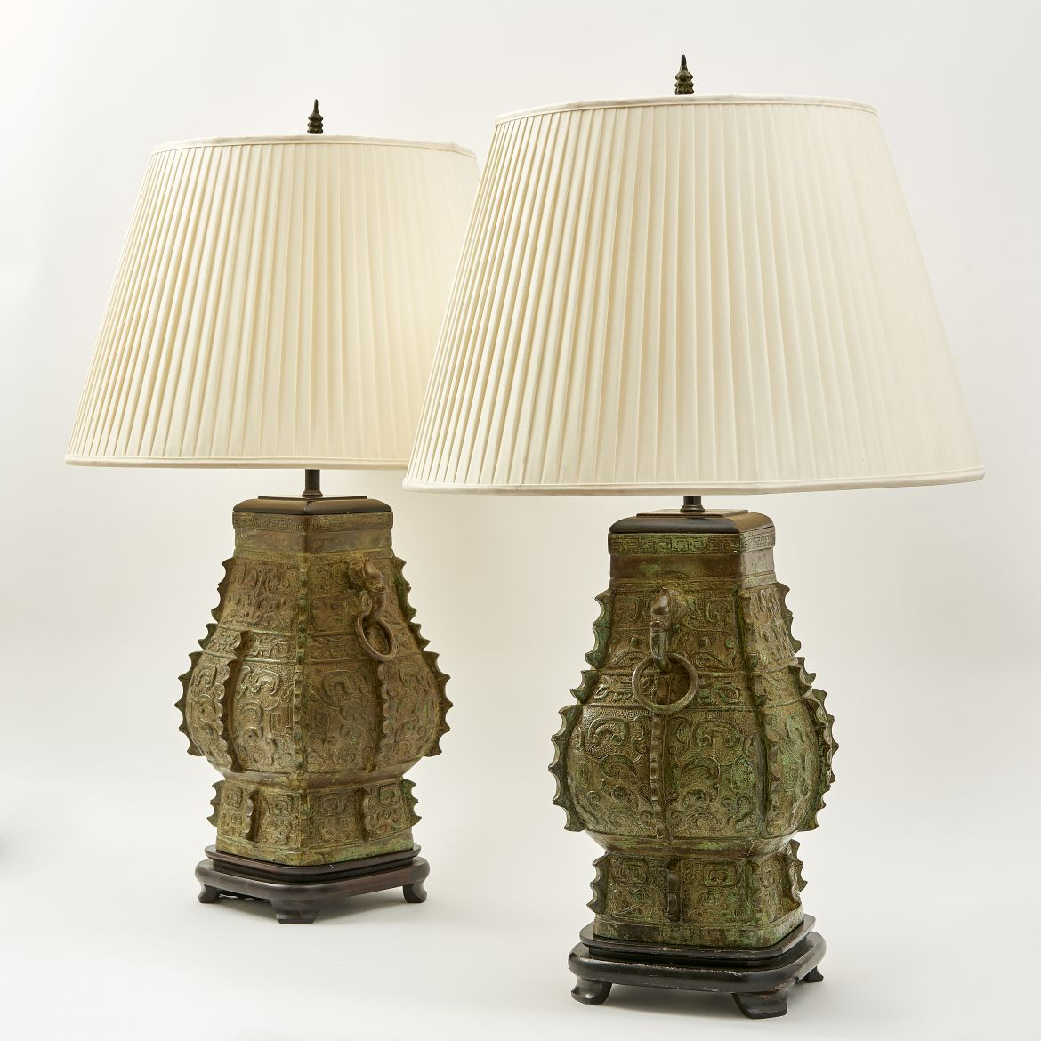 Bronze Lamps In Form Of Han Dynasty Vases