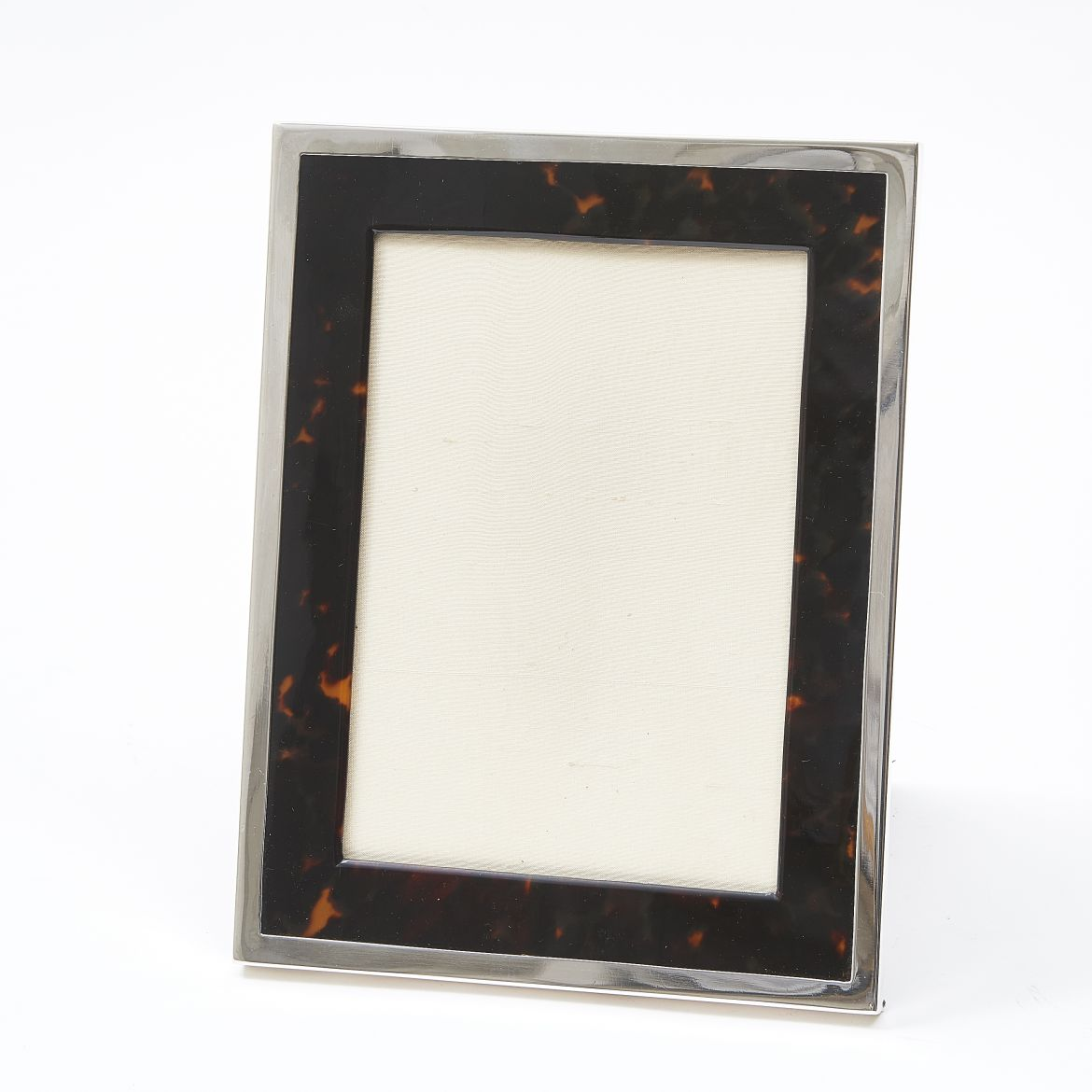 English Silver and Tortoiseshell Frame