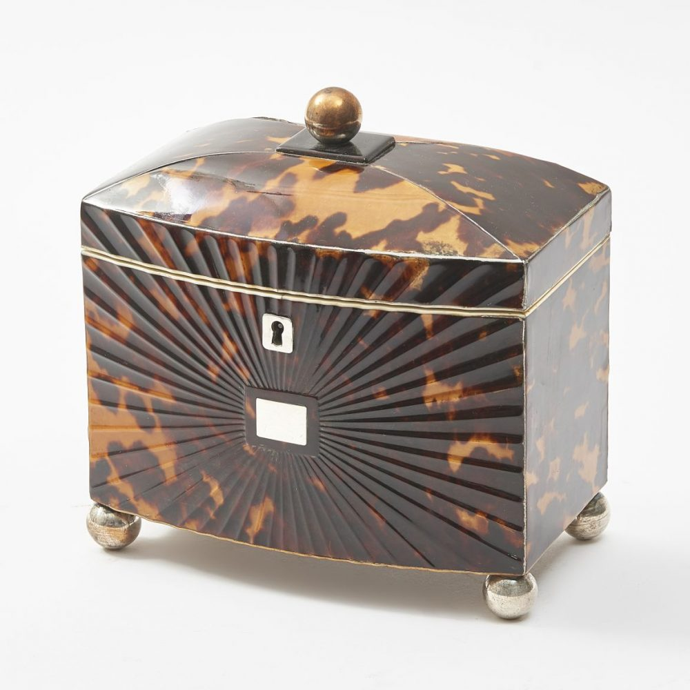 Late Regency Tortoiseshell Tea Caddy