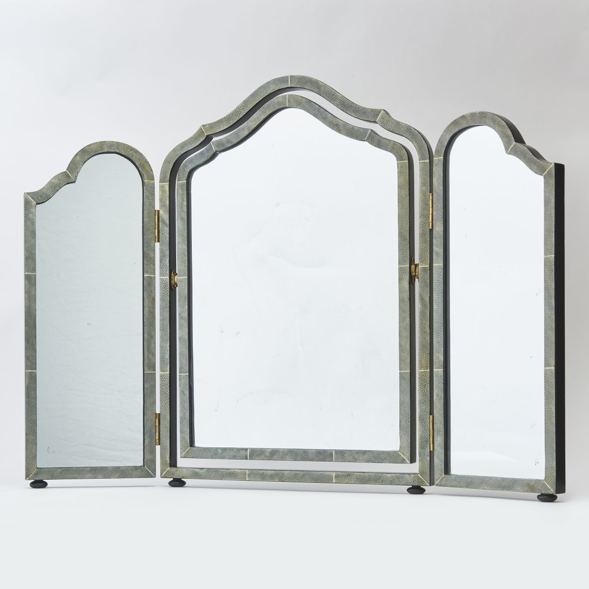 English Shagreen Dressing Table Mirror