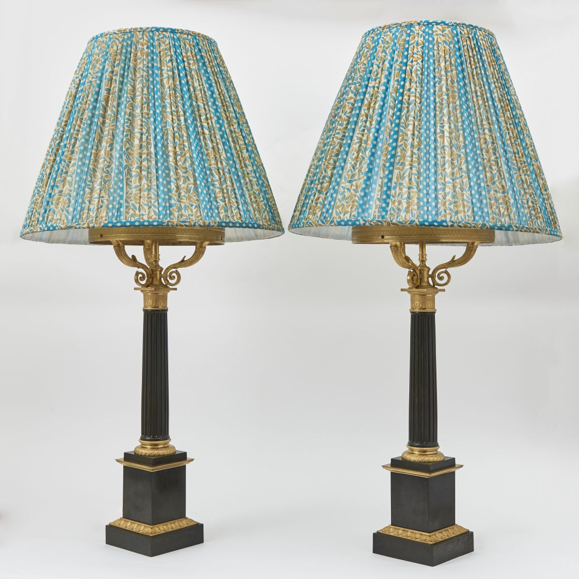 Pair Charles X Wired Oil Lamps