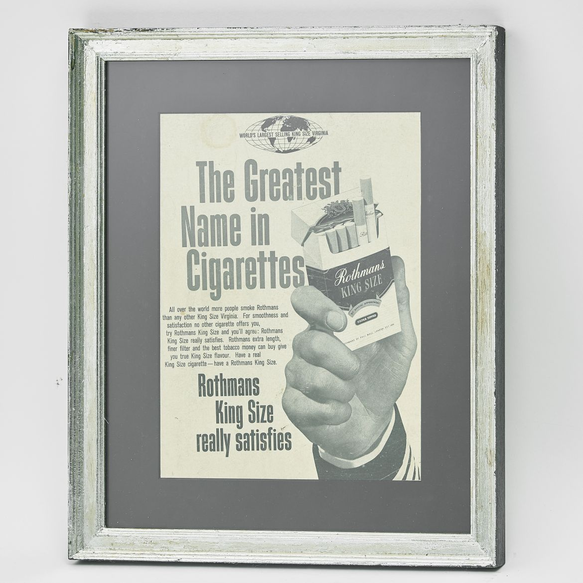 Rothmans Cigarettes Advertising Poster