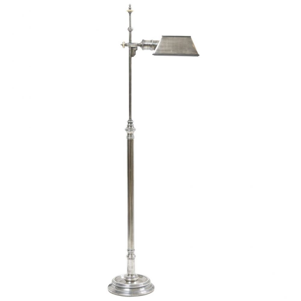 Silvered Metal Standard Lamp