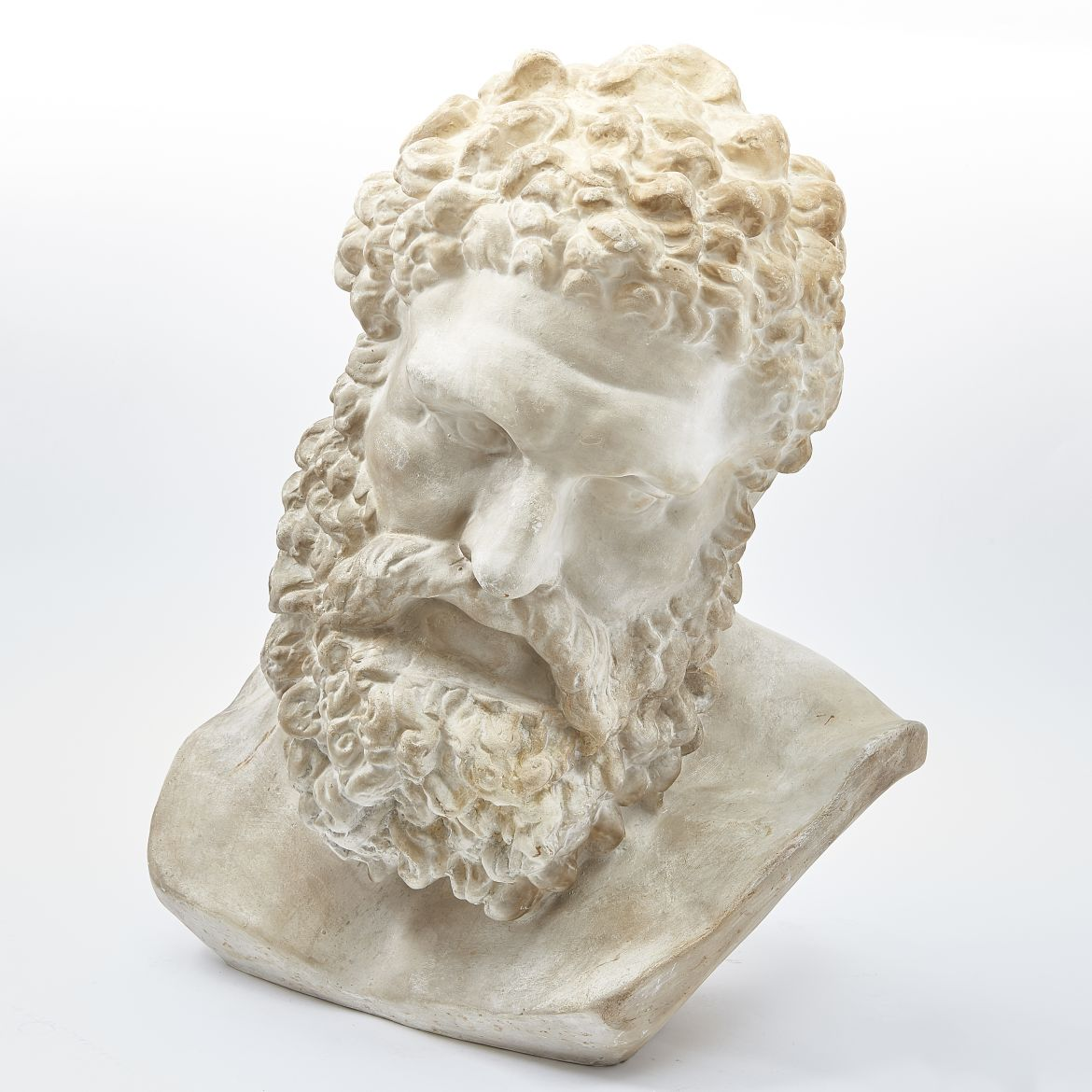 Plaster Bust Of The Farnese Hercules
