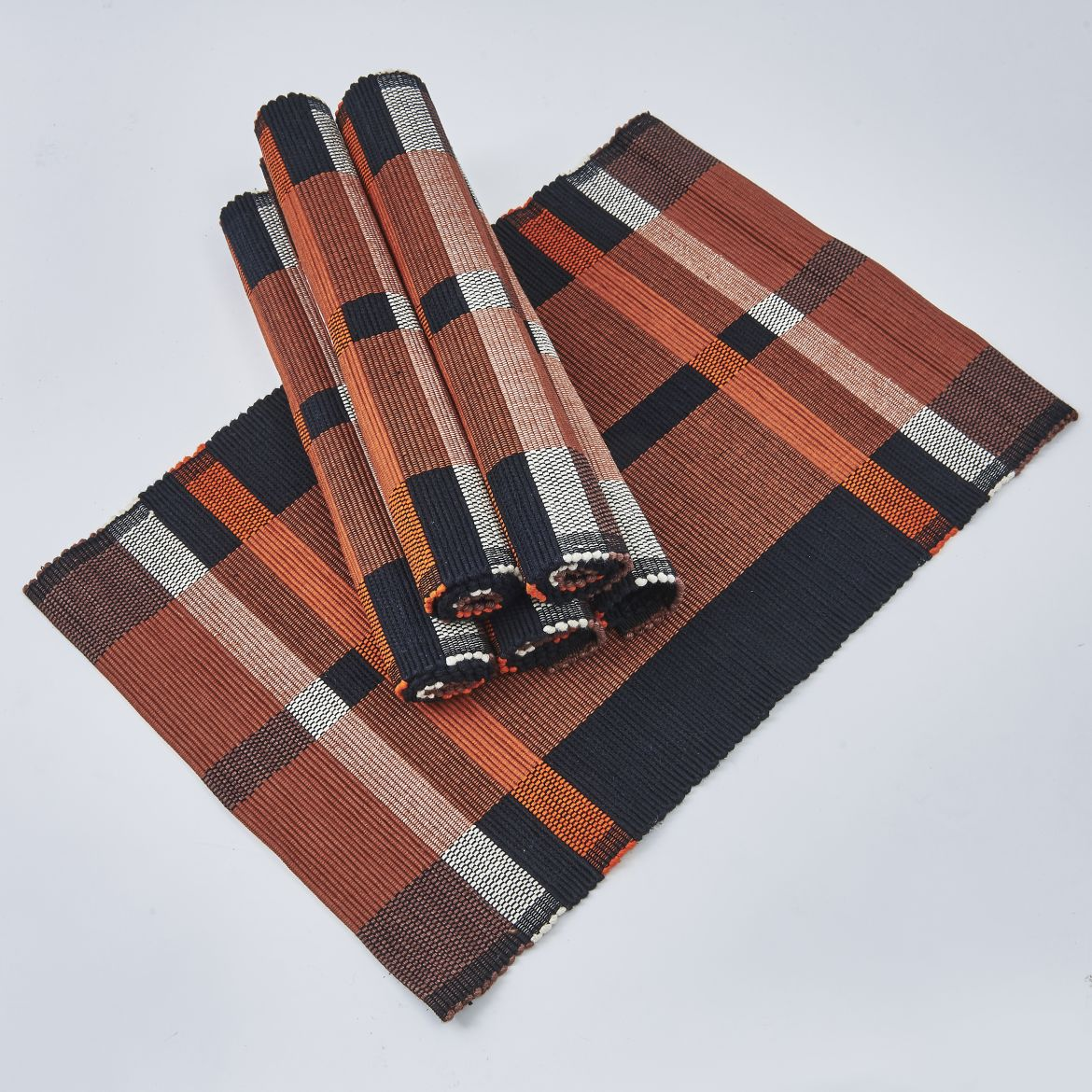 Brown And Black Placemats