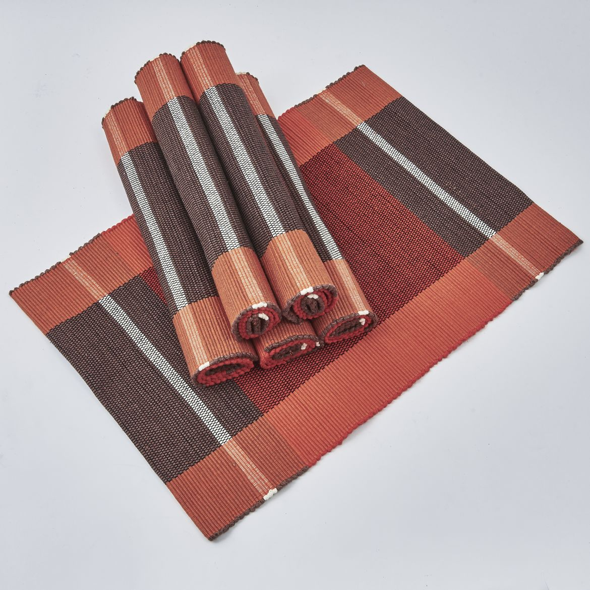Brown And Orange Placemats