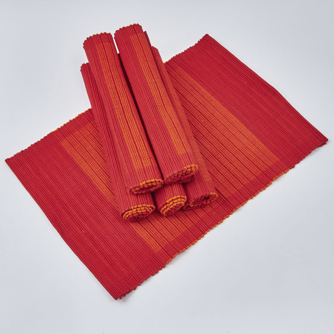 Two Tone Orange Placemats