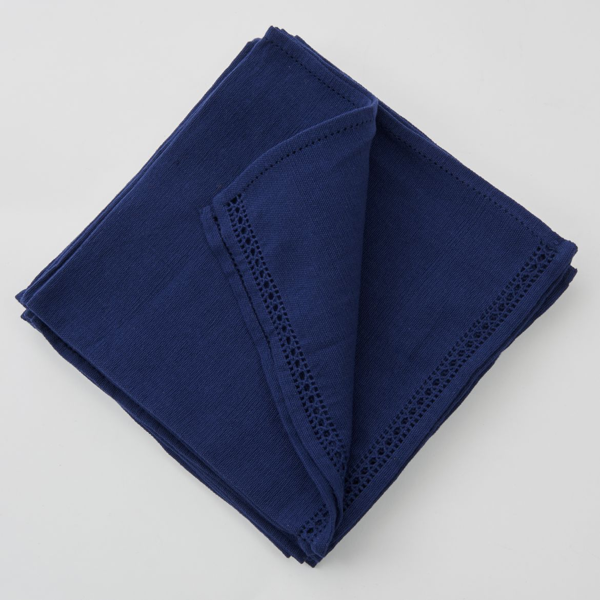 Set Of Dark Blue Napkins