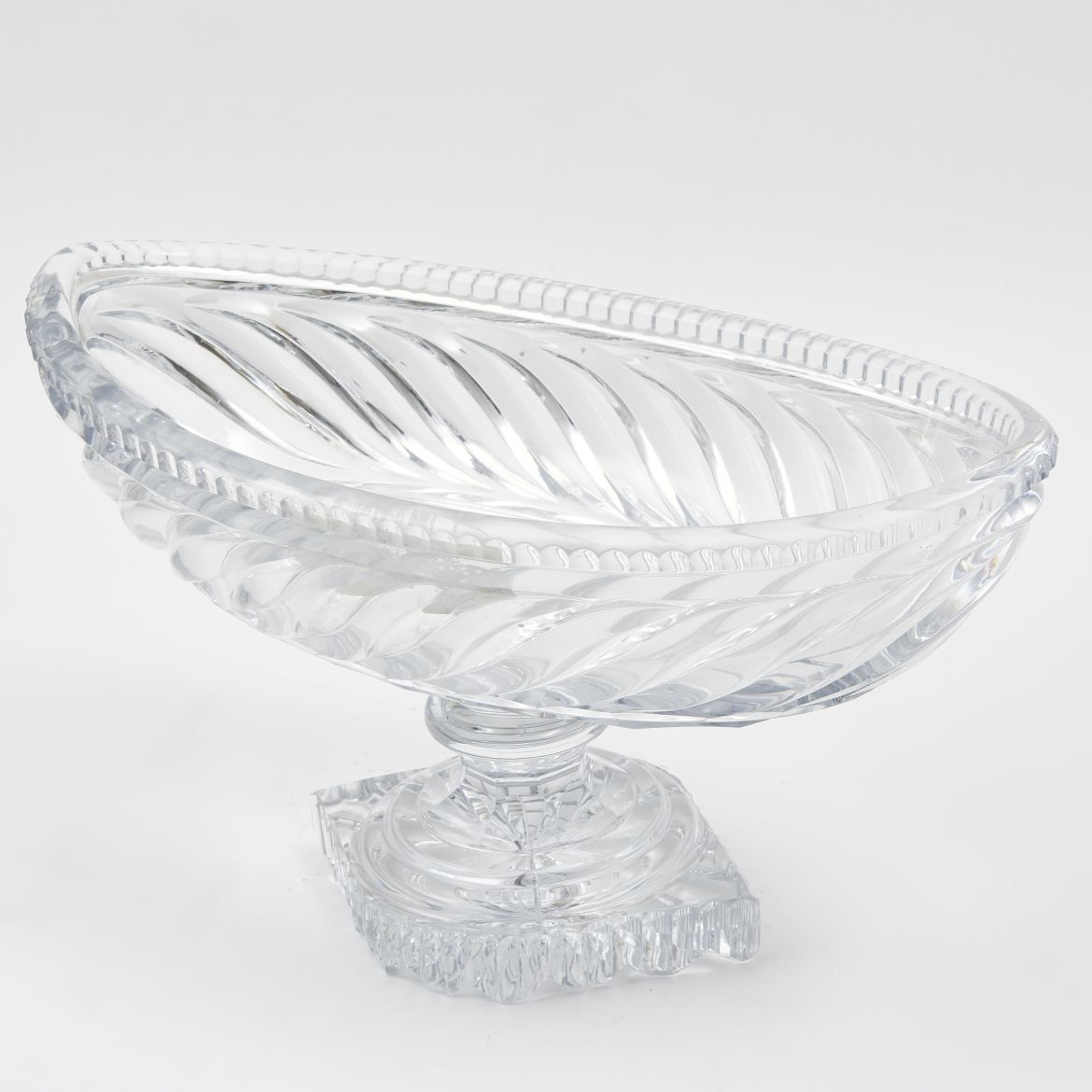 Victorian Cut Crystal Footed Bowl