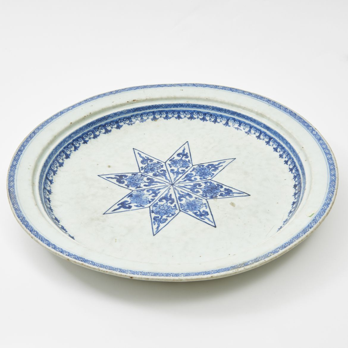 Chinese Blue And White Platter