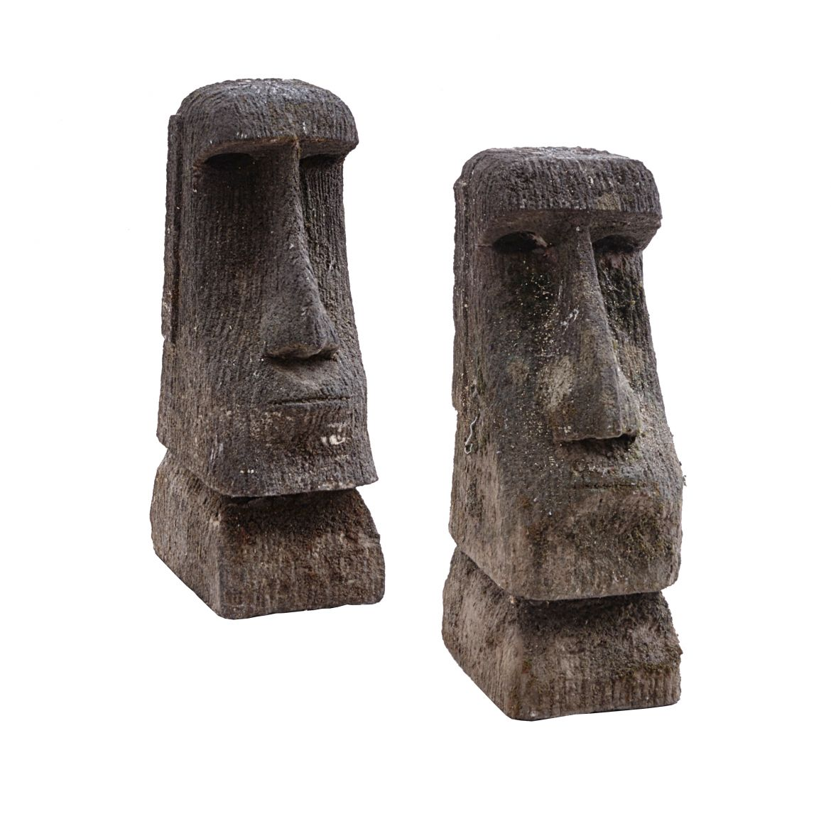 Matched Pair Easter Island Heads