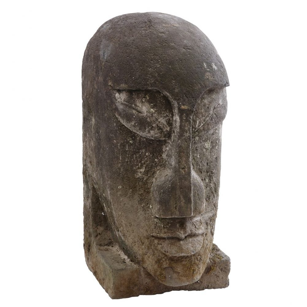 Large Carved Easter Island Head