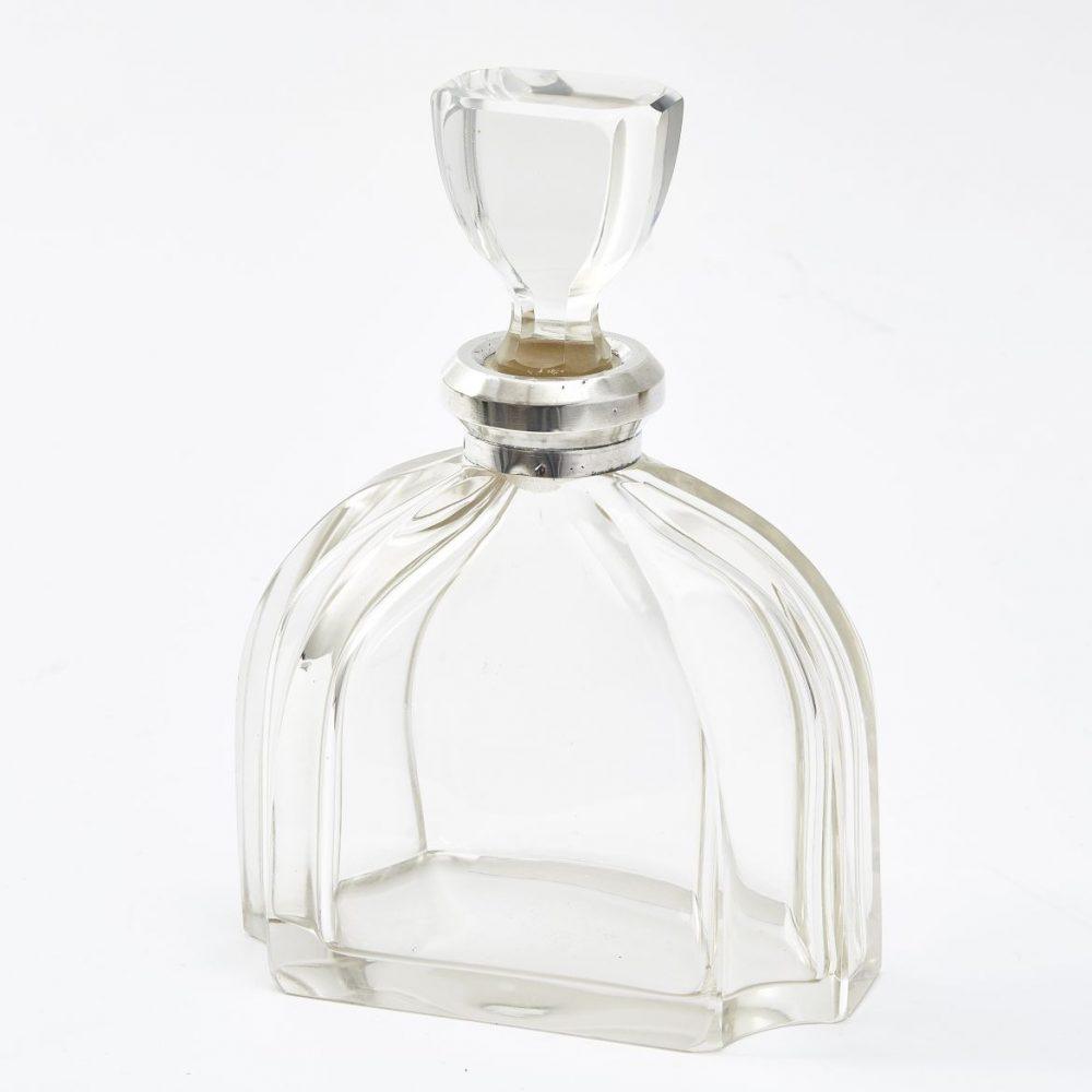 French Art Deco Silver Mounted Decanter