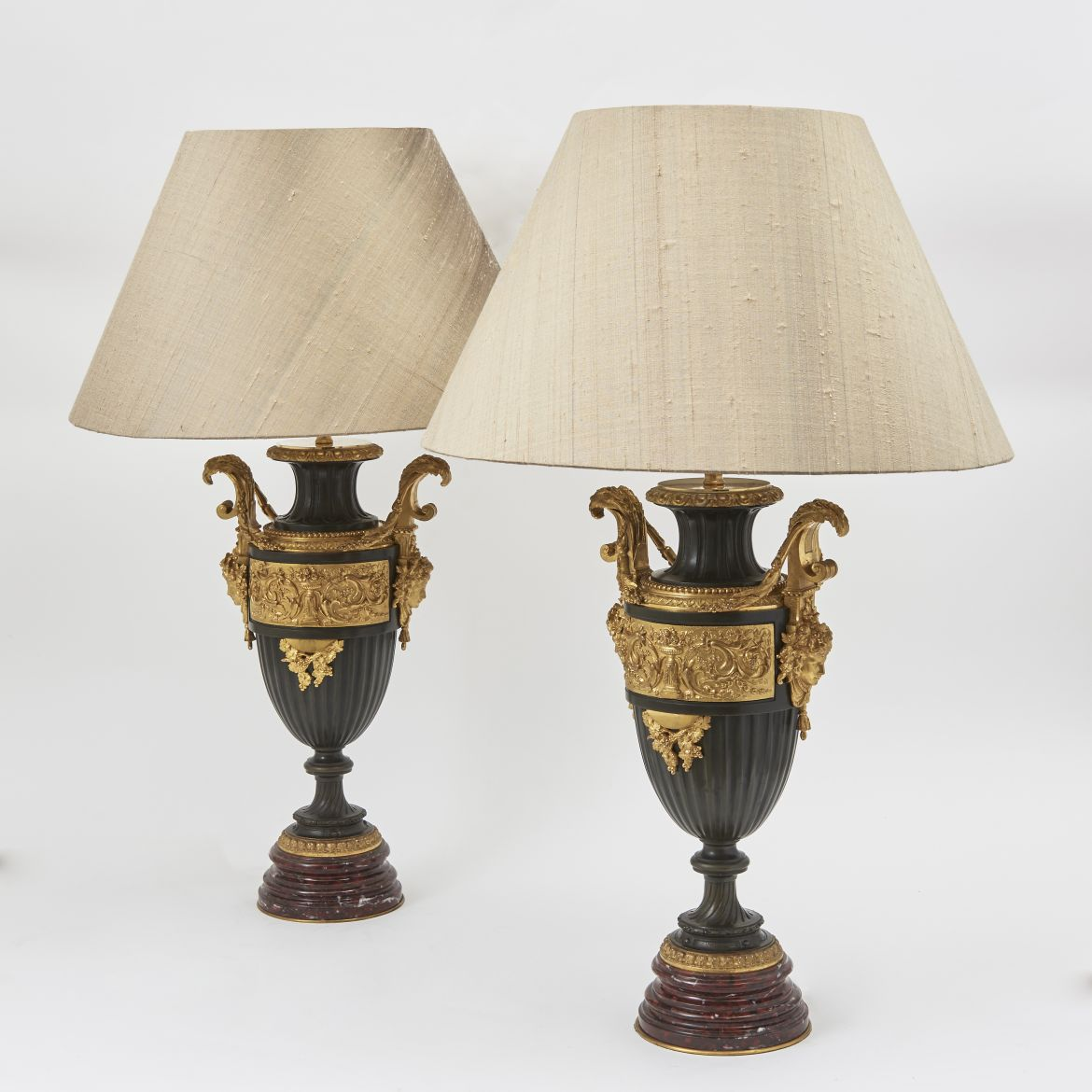 French Neoclassical Urns as lamps