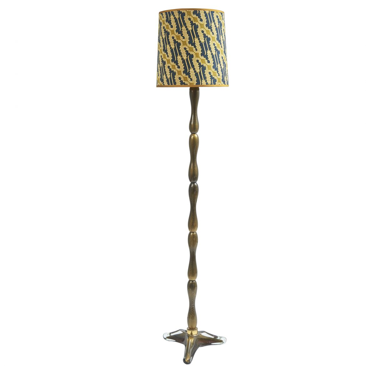 Murano Seguso Gold Speckled Standard Lamp