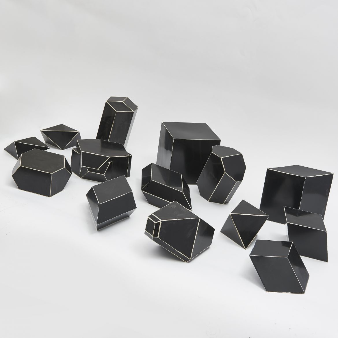 Collection Bakelite Geometric Shapes