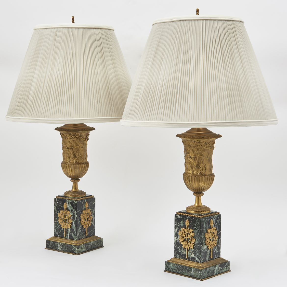 French Ormolu Urn Shaped Lamps