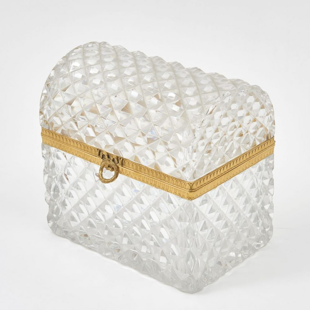 French Domed top Cut Crystal Box