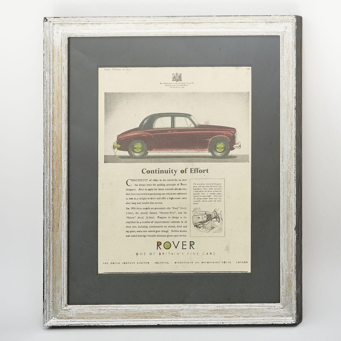 1950s Rover Cars Advert