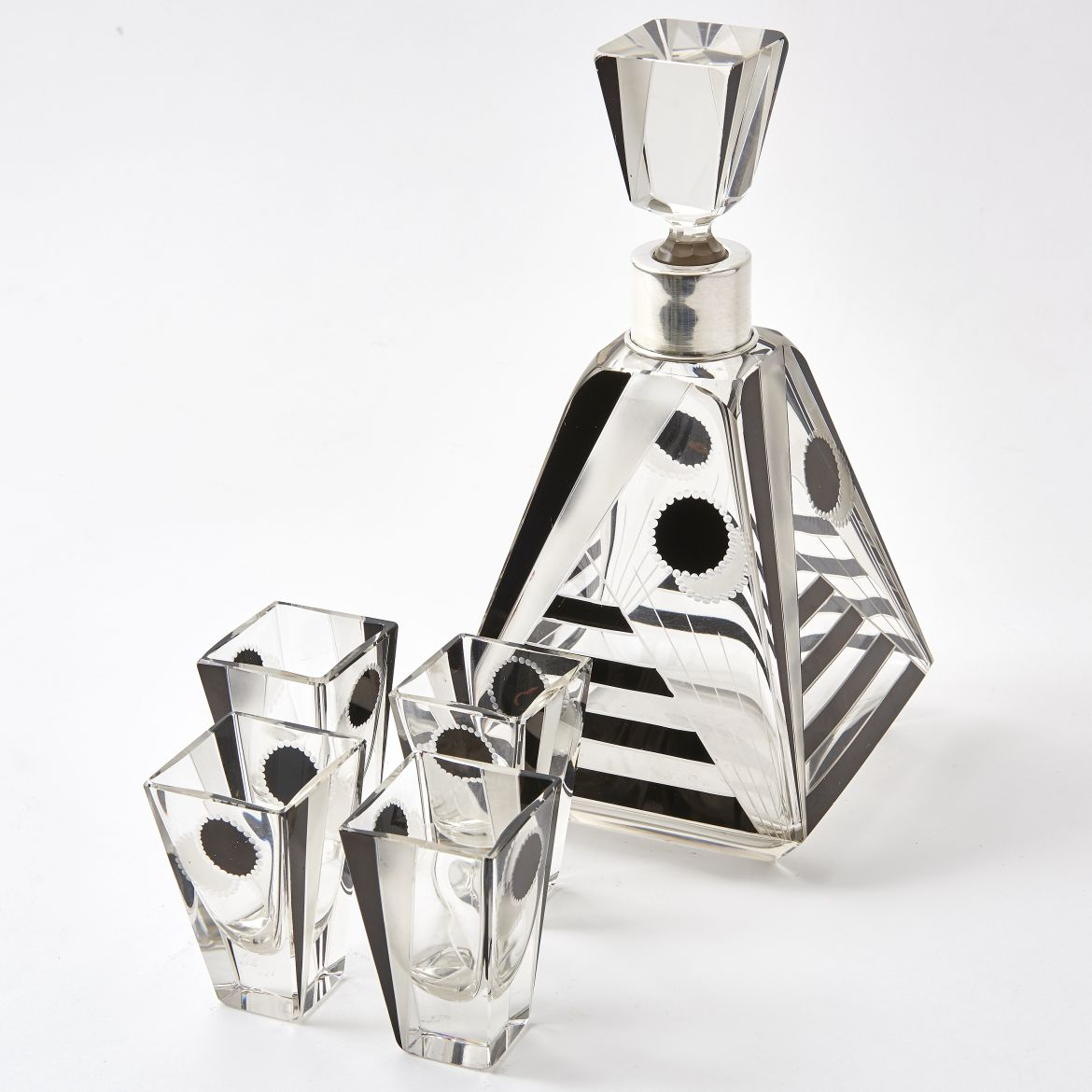 Karl Palda Art Deco Decanter and Glasses