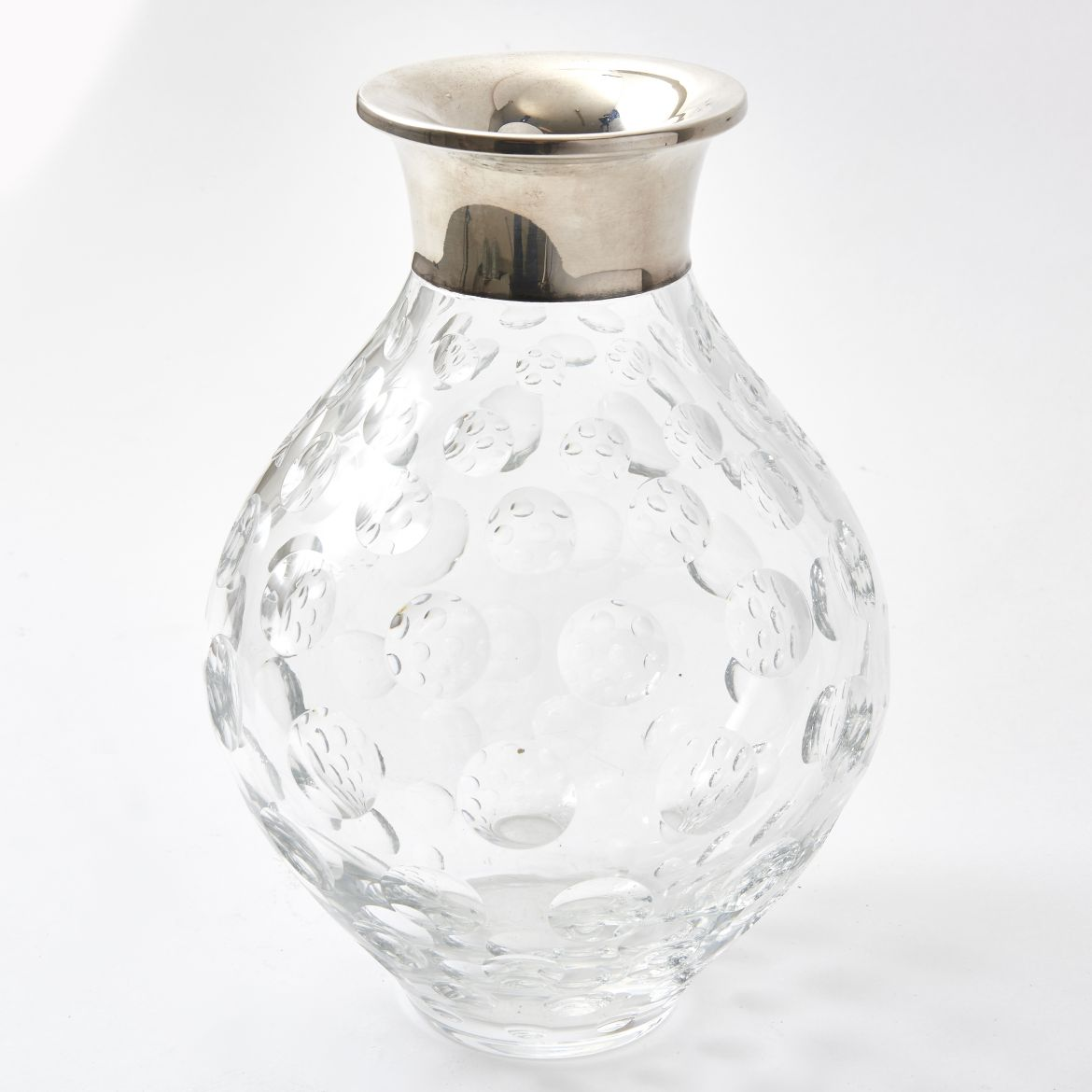 German Crystal and Silver Vase