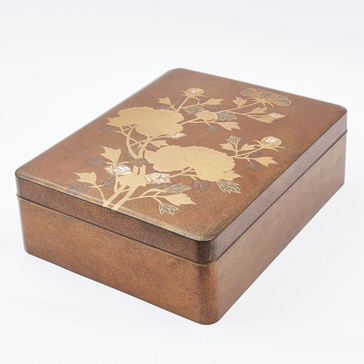 Japanese Lacquer Box With Mother Of Pearl Inlay