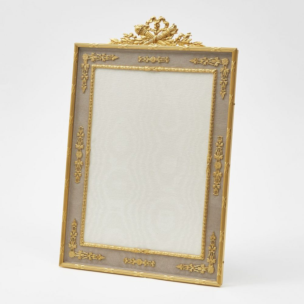 French Ormolu Frame With Taupe Silk Slip