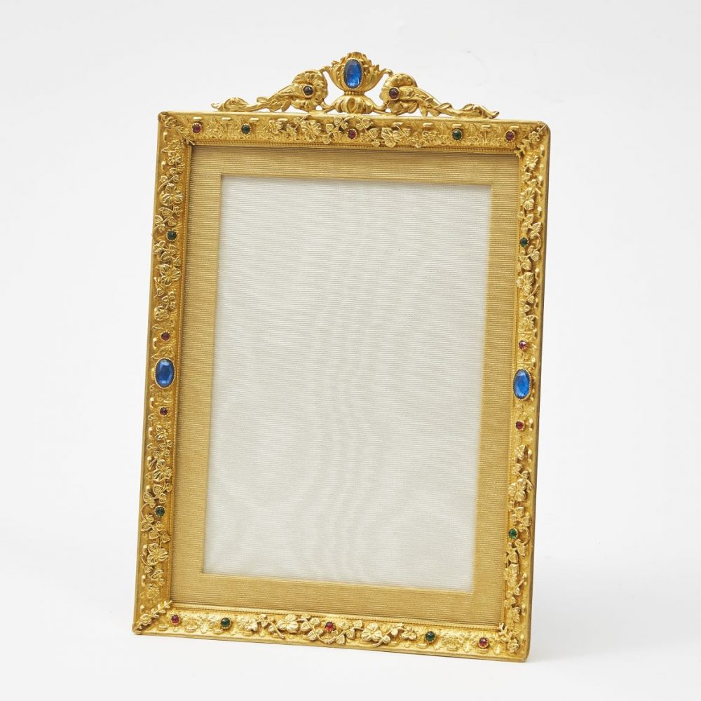 French Ormolu and glass Photo Frame