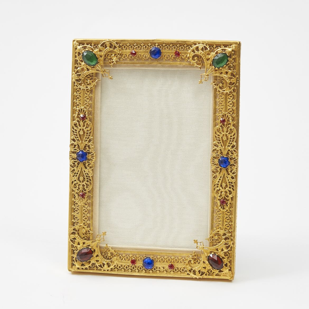 French Filigree And Coloured Glass Frame