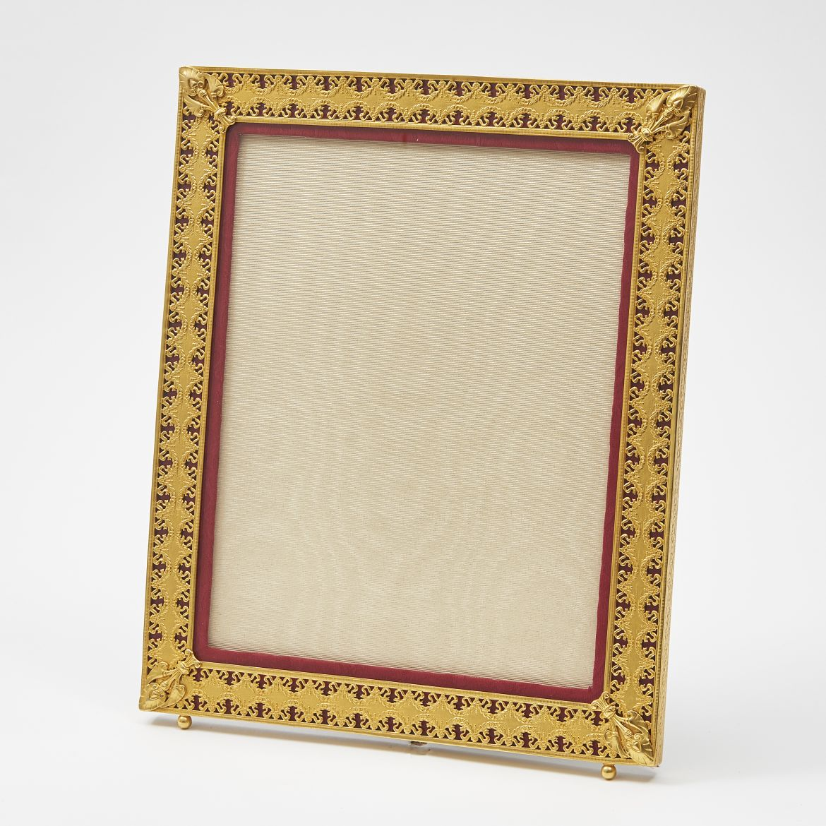 Ormolu Frame With Red Slip