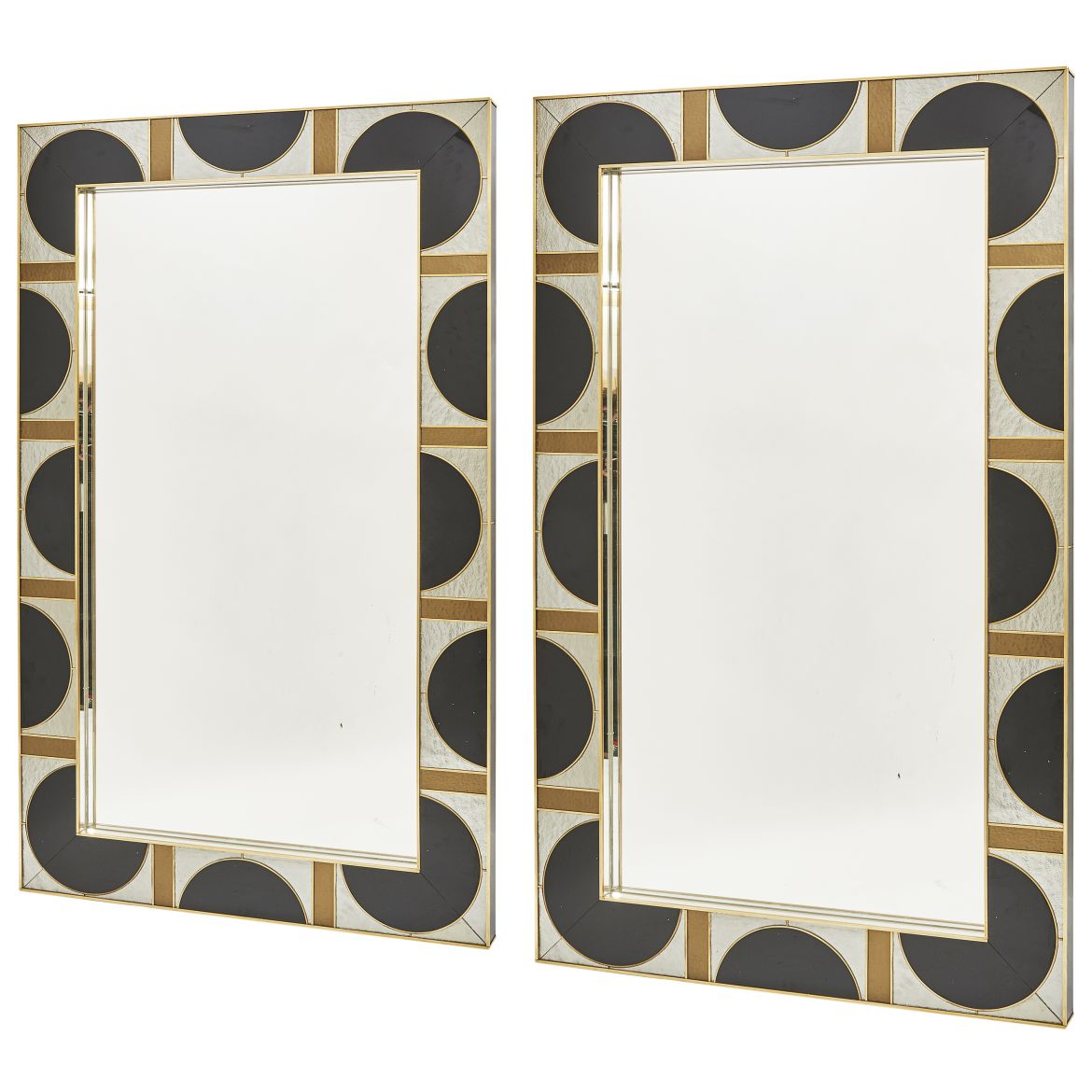 Pair Contemporary Murano Glass Mirrors