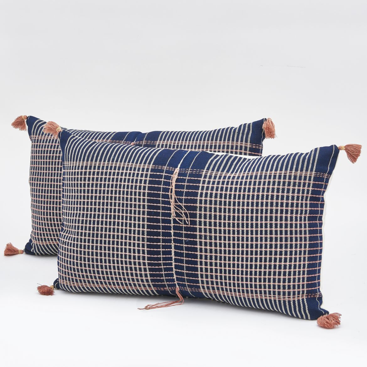 Chinese Fabric Cushions With Tassels