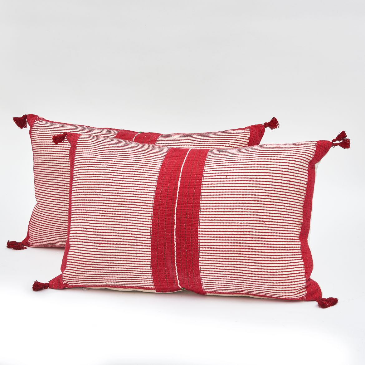 Chinese Striped Fabric Cushions